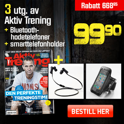 Aktiv Trening + Active Fit Bluetooth in-ear musikheadset + smarttelefonarmbandholder.