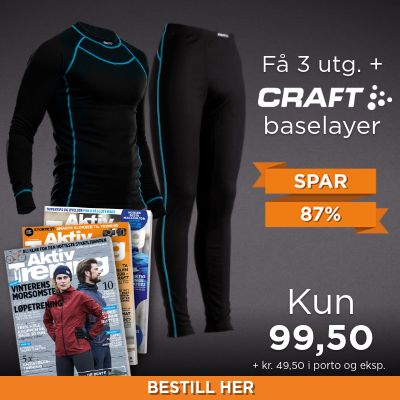 Aktiv Trening + Craft Performance Baselayer sett.