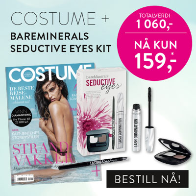 Costume + bareMinerals Seductive Eyes kit.