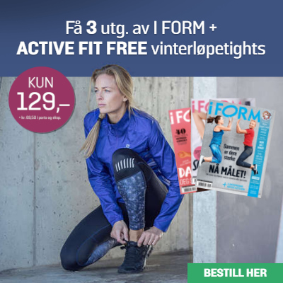 i FORM + Active Fit Free vinterløpetights.