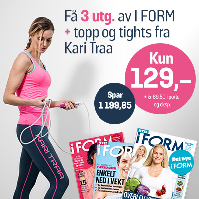 i FORM + Kari Traa topp og tights.