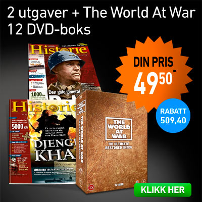 Illustrert Vitenskap Historie + The World at War DVD boks.