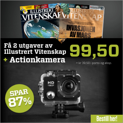 Illustrert Vitenskap + PROX11 full HD actionkamera.