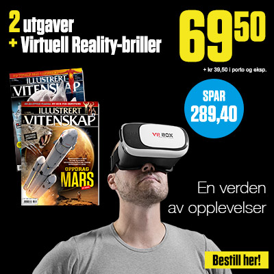 Illustrert Vitenskap + Virtuell Reality VR-briller.
