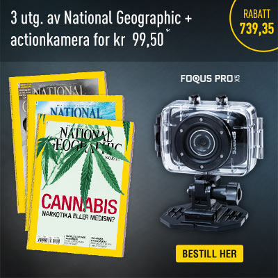 National Geographic Norge + actionkamera.