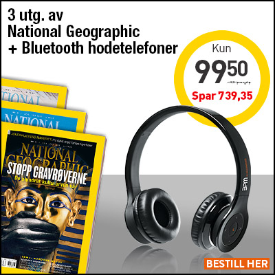 National Geographic Norge + BPM X1 Bluetooth-hodetelefoner.