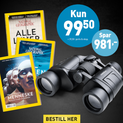 National Geographic Norge + Mitilux 8×40-kikkert.