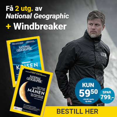 National Geographic Norge + Chill Factor Black Reflective Windbreaker.