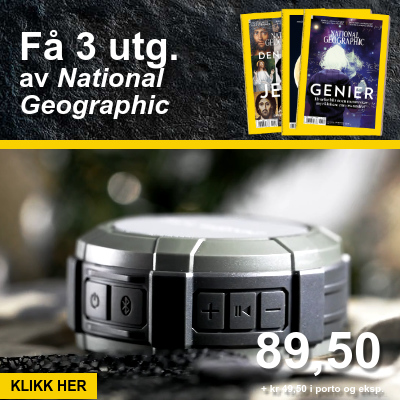 National Geographic Norge + Air Sonic Bluetooth-høyttalere.